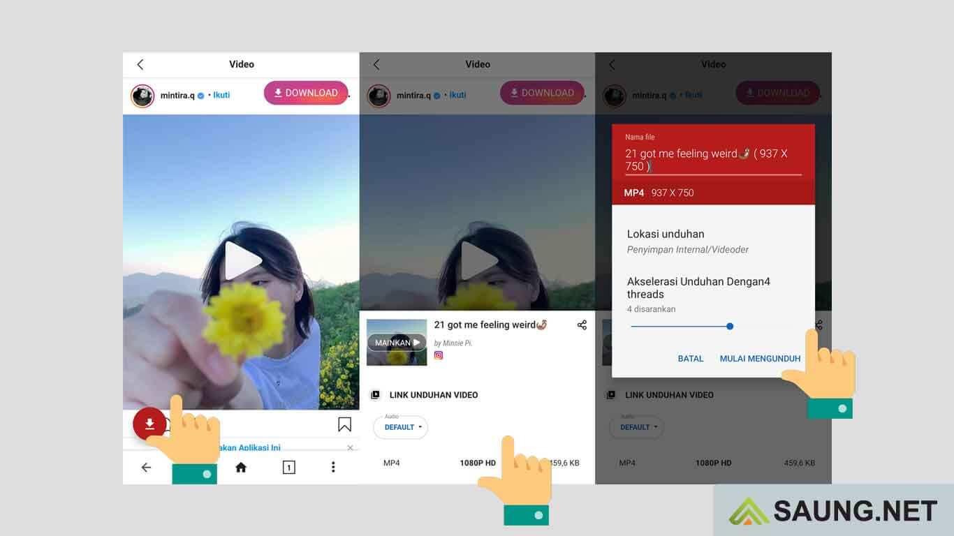 aplikasi menyimpan video instagram ke galeri