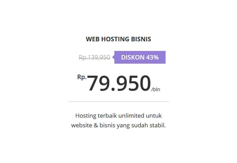 Paket Web Hosting Bisnis - Hostinger