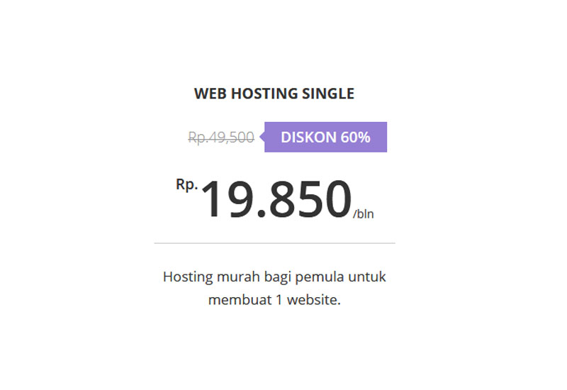 Paket Web Hosting Single - Hostinger