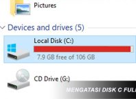 Mengatasi Local Disk C Full
