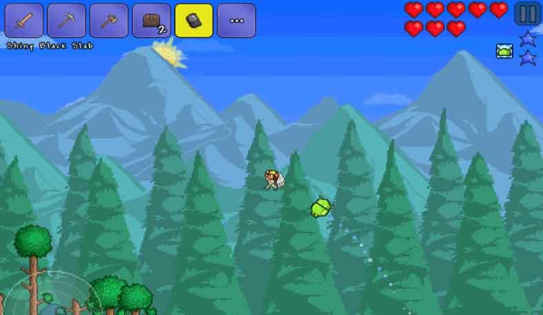 Terraria merupakan game Android yang bisa dimainkan tanpa jaringan internet