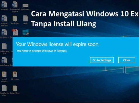 Cara Mudah Mengatasi Windows 10 Expired Tanpa Install Ulang