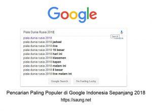 Pencarian Paling Populer di Google Indonesia Sepanjang 2018