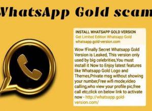 WhatsApp Gold Scam