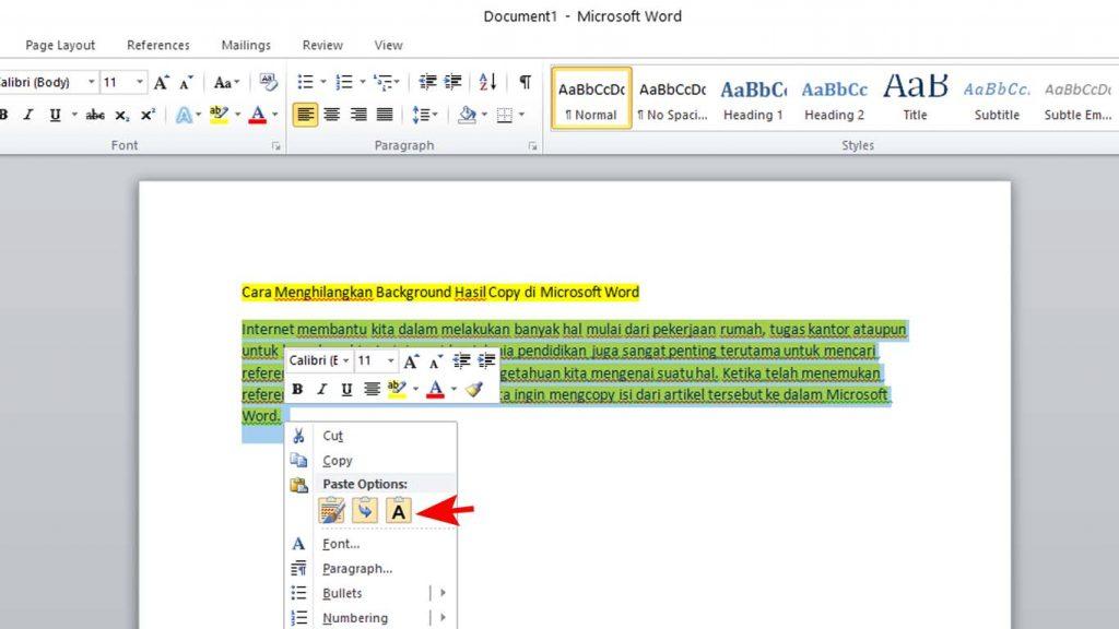 Cara Menghapus Background di Microsoft Word
