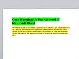 Cara Menghilangkan Background di Microsoft Word