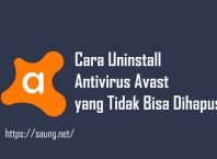 Cara Uninstall Antivirus Avast
