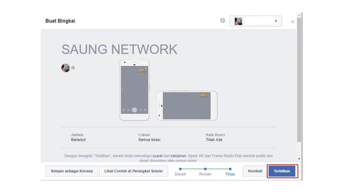 Menambahkan Logo di Live Facebook