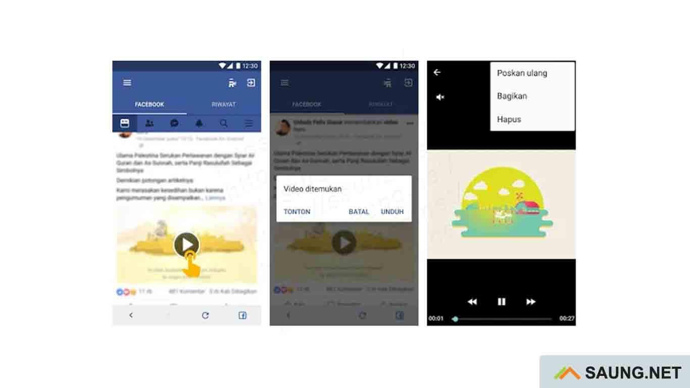 cara download video facebook di pc