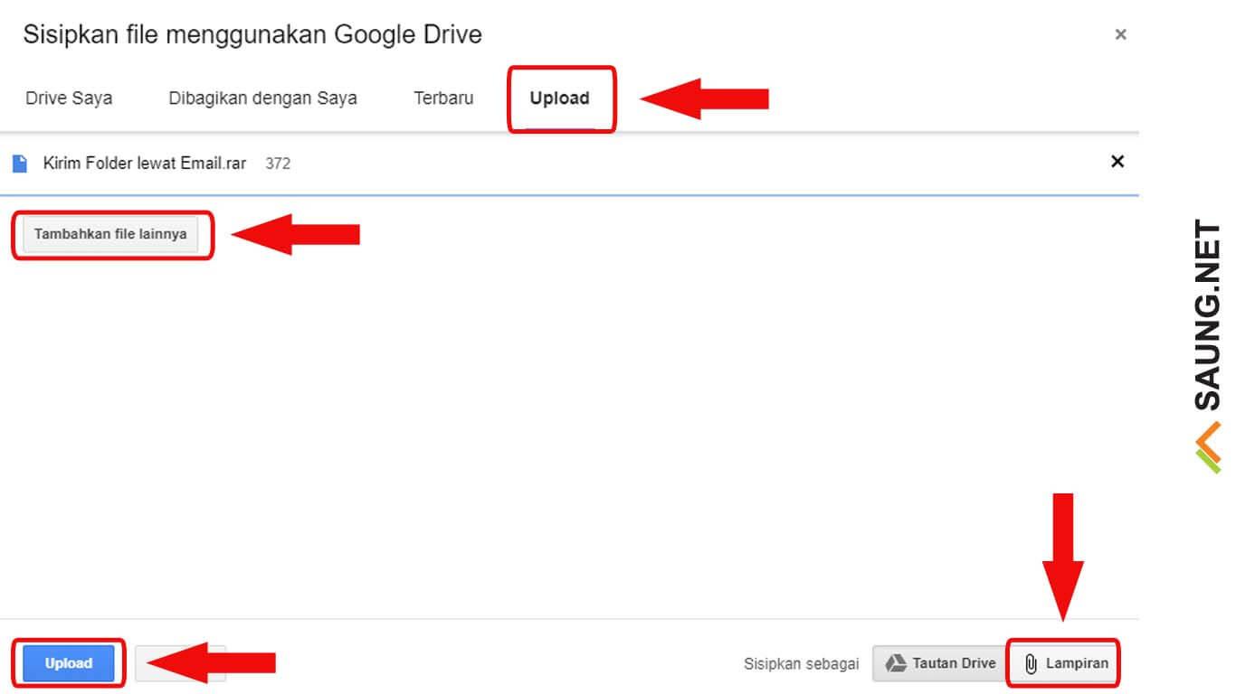 cara mengirim file besar lewat email