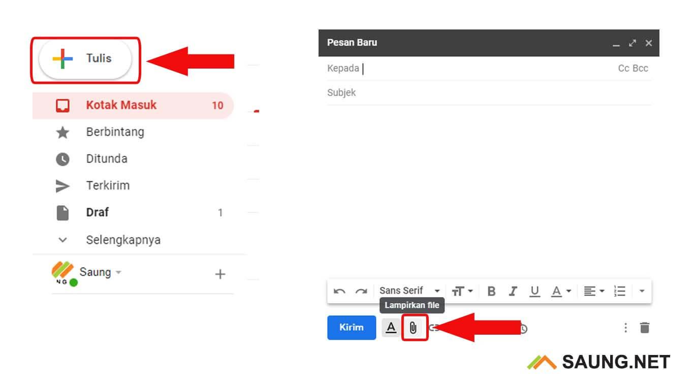 cara mengirim file ke email dalam bentuk folder