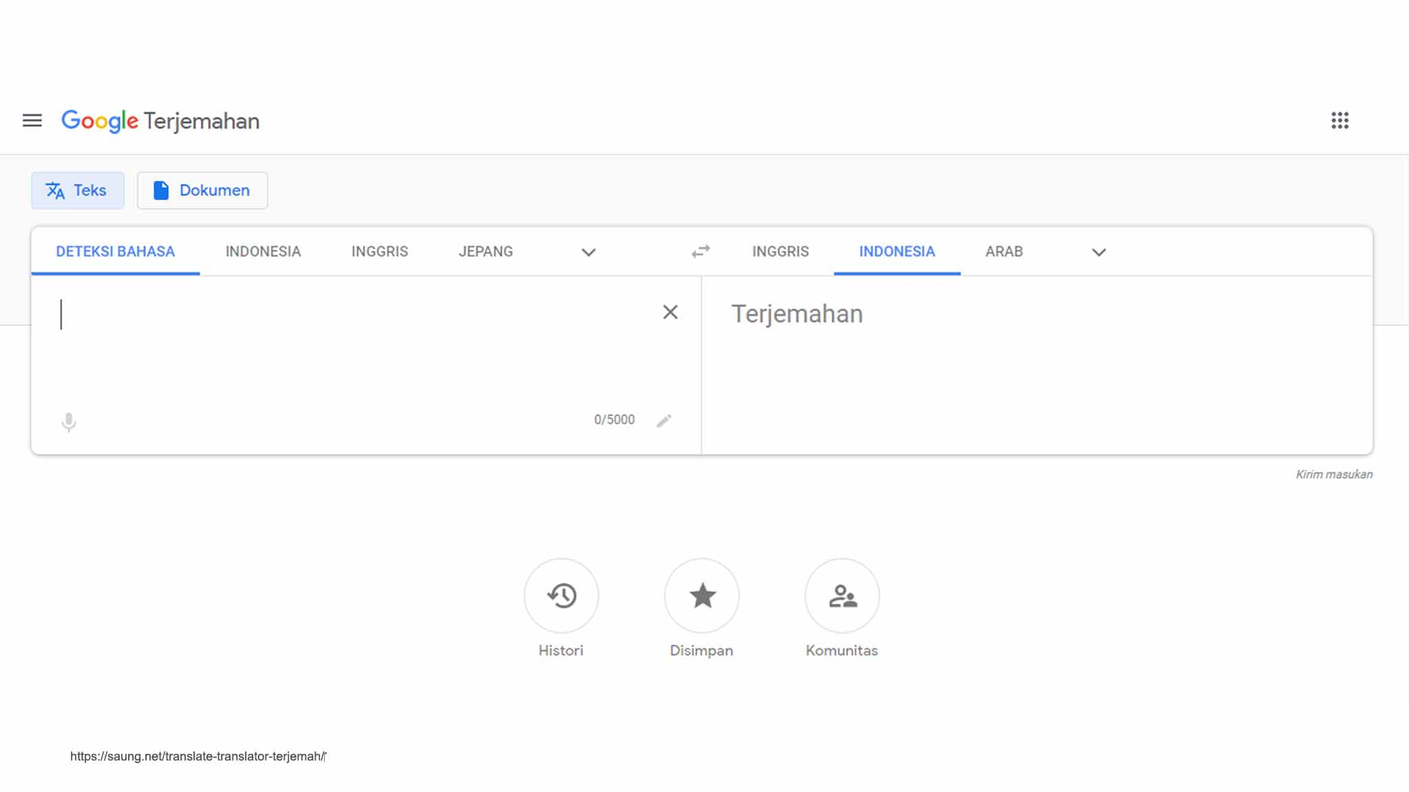 Google Translate - translate english indonesia google
