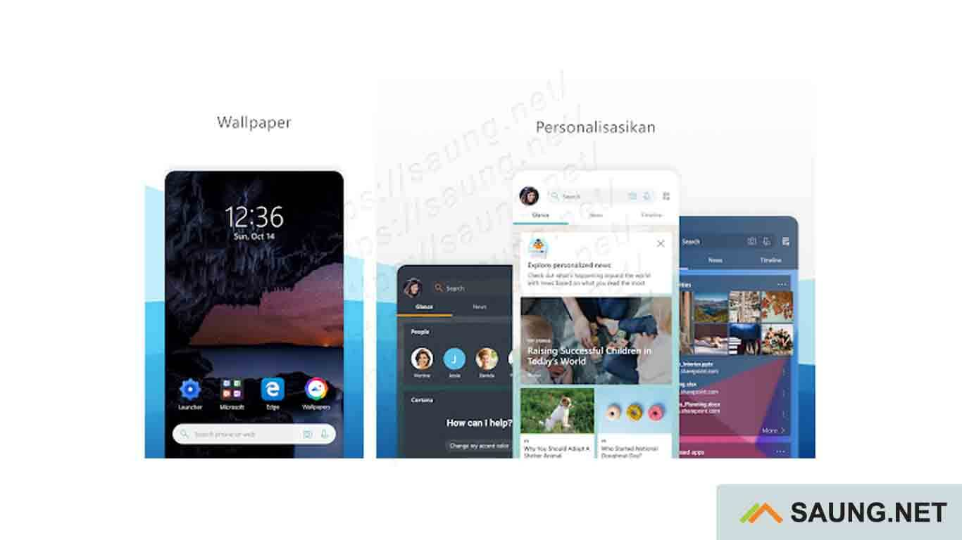 Microsoft Launcher - tema windows