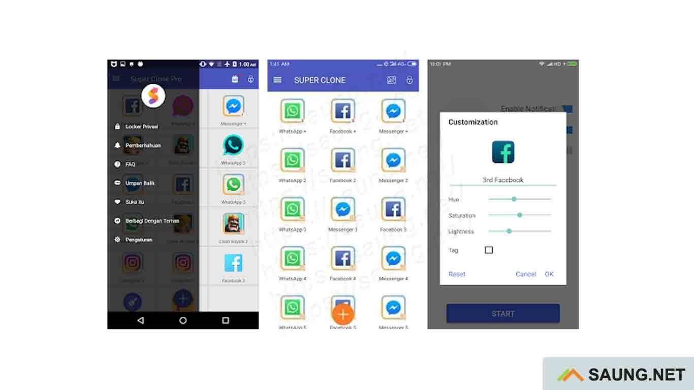 2 aplikasi dalam 1 layar