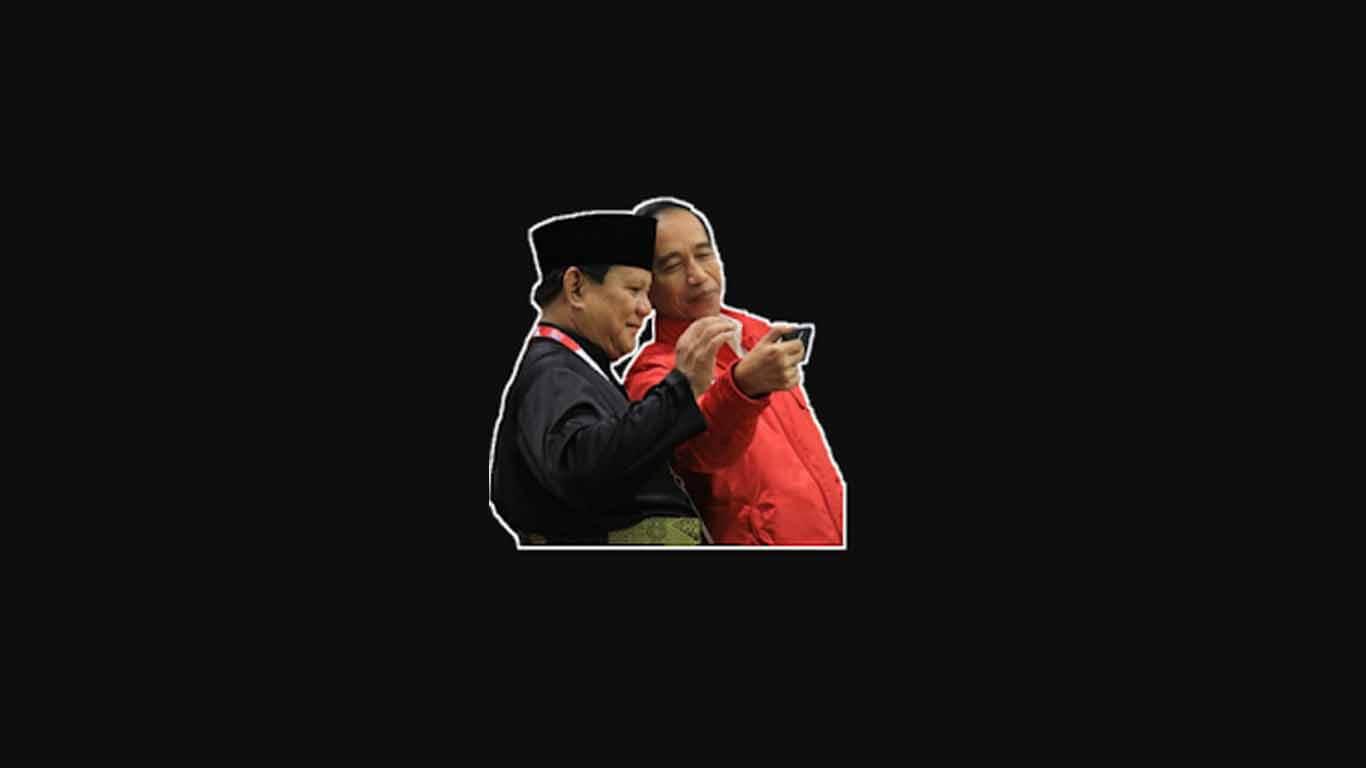 Stiker Jokowi Prabowo untuk Whatsapp