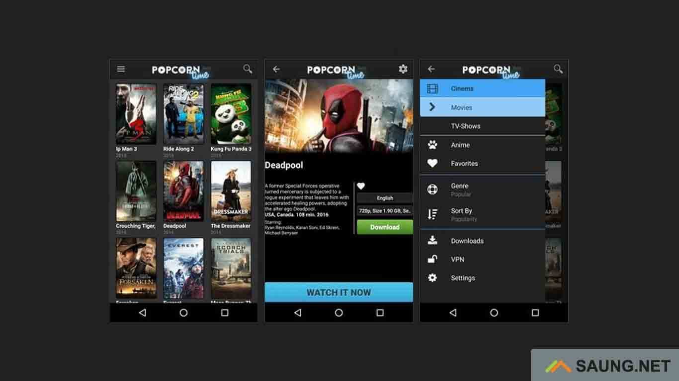 Popcorn time - aplikasi download film bioskop indonesia