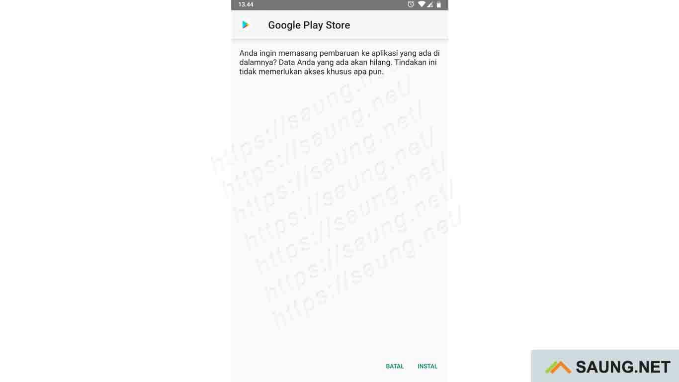 cara memperbarui google play store