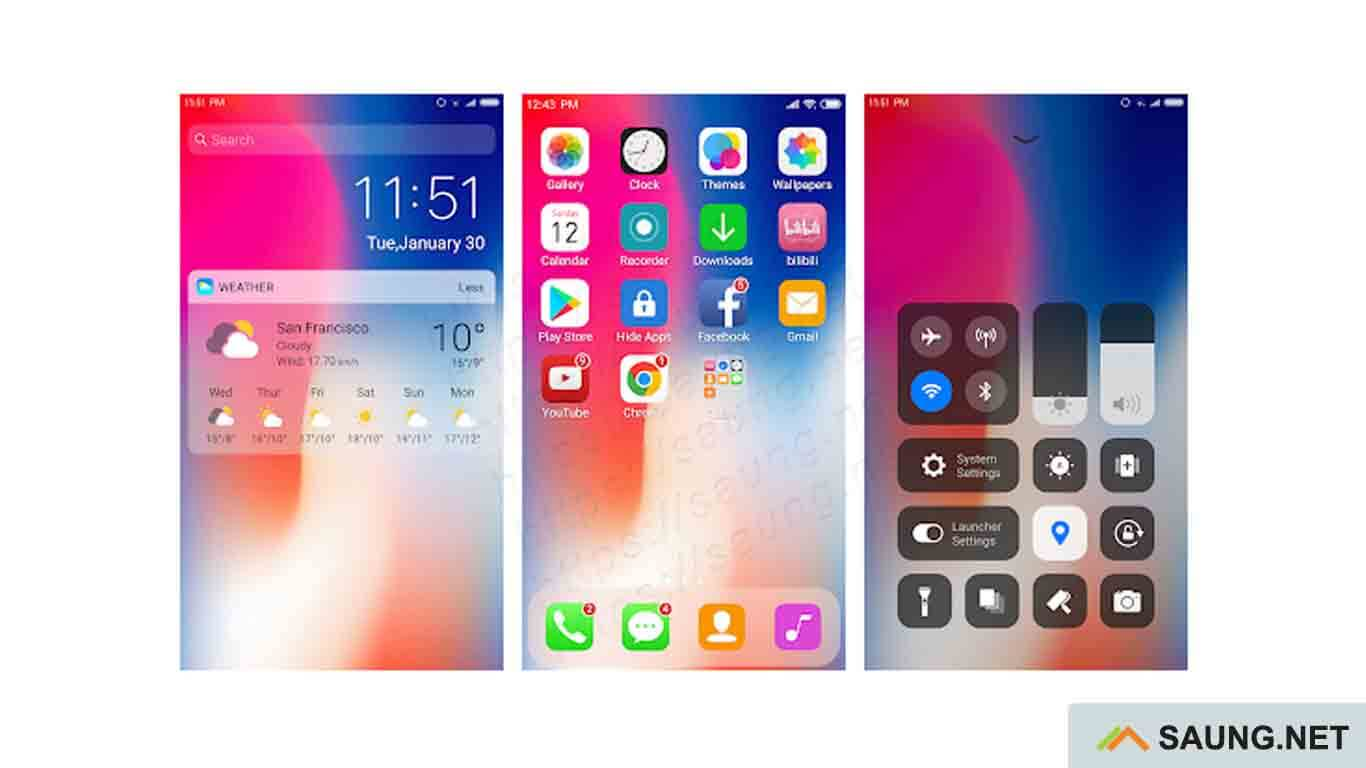 ios theme for android