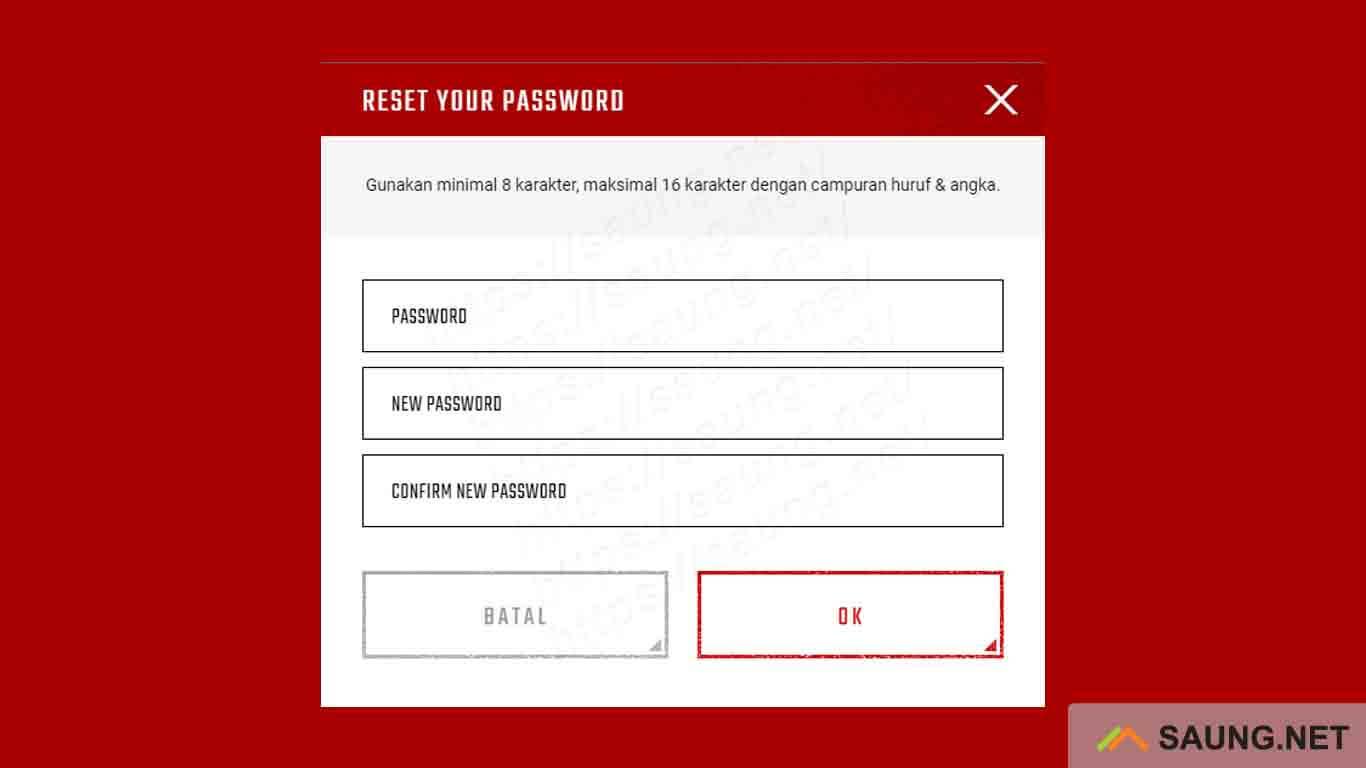 ubah password pb