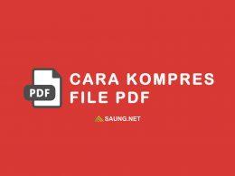 cara kompress pdf