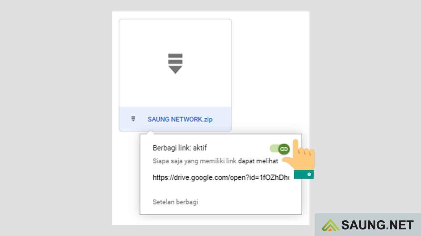 cara berbagi link google drive