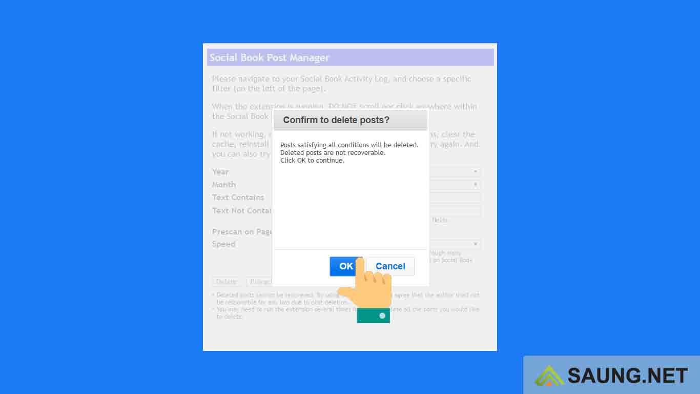 cara menghapus semua status di fb lewat laptop