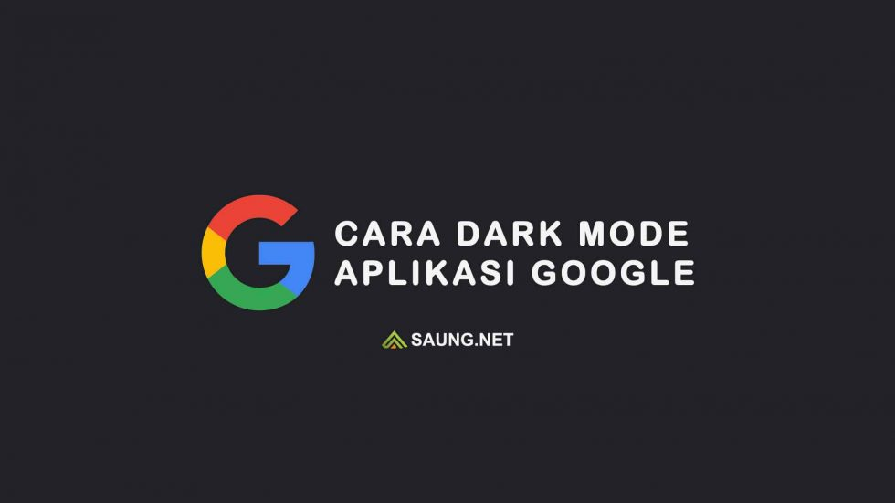cara dark mode google