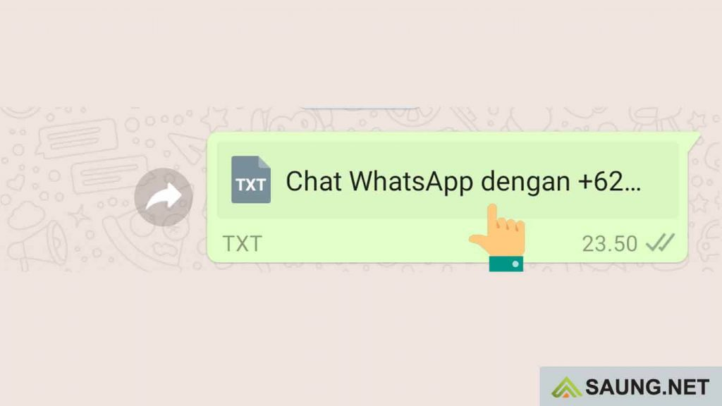 cara melihat ekspor chat whatsapp