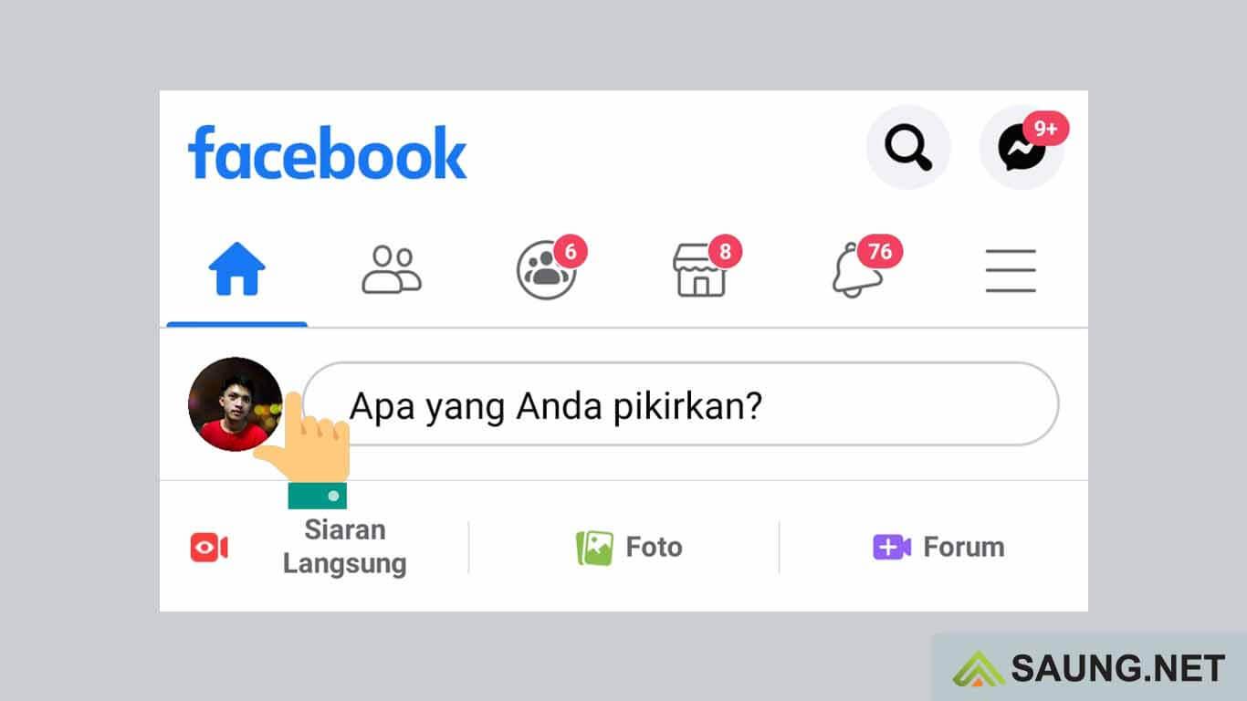 cara menghapus foto profil di fb