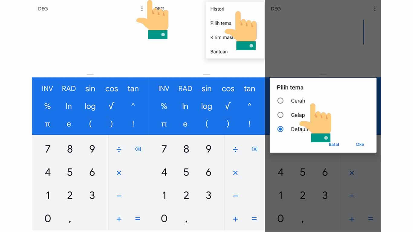 google calculator dark mode