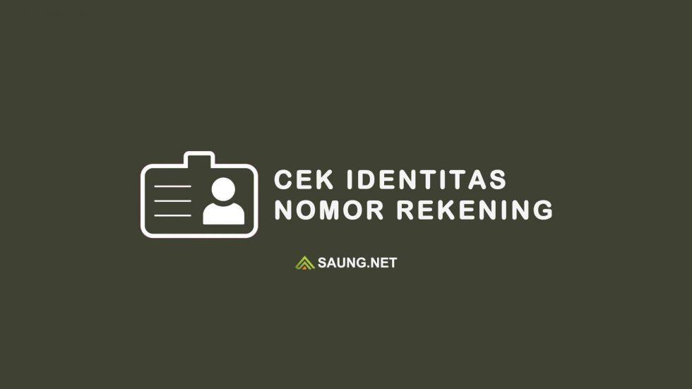 cek identitas lewat no rekening bank