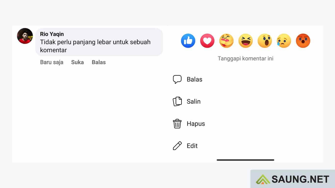 cara copy komentar facebook