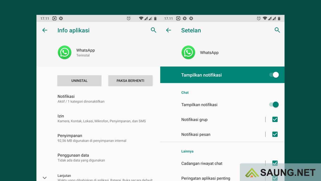 cara menonaktifkan whatsapp tanpa mematikan data seluler