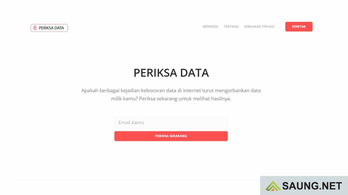 cek data pribadi