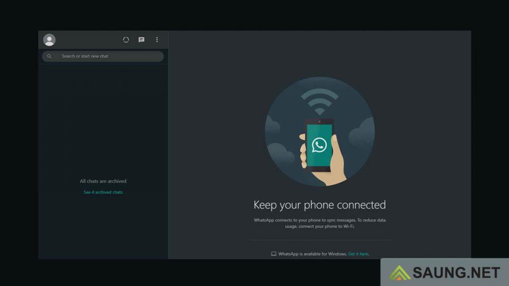 cara membuat whatsapp web dark mode